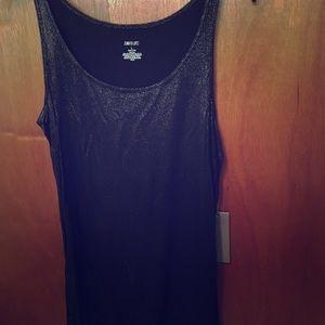 Jennifer Lopez black shiney dress tank top